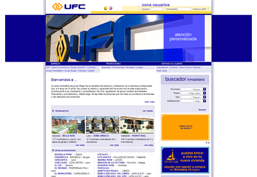 <p>Portal web Inmobiliario de UFC</p>